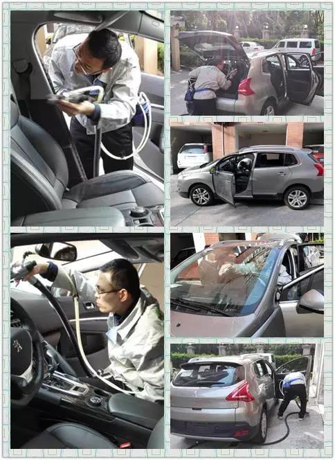 友兰科技施工员对客户爱车做车内空气治理